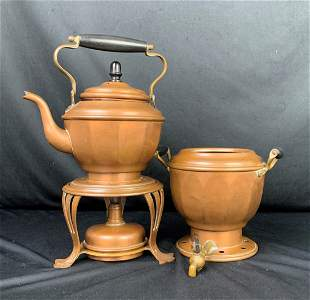 Vintage Copper Tea Set by Joseph Heinrich