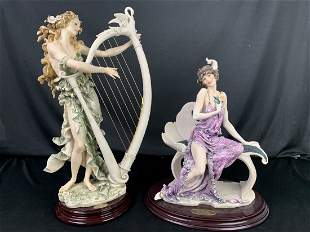 2 Giuseppe Armani Sculpture - Angelica & Enchanting