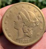 1871 Liberty Head Double Eagle $20.00 Gold Coin