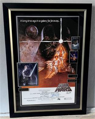 """Star War  """"The Trilogy""""  Signed by 5 Cast members"""