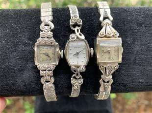 Lot of 3 Victorian Women's Watches 14K & 10K Gold
