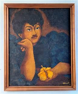 """Hawaiian Oil Portrait by LeBranch """"Reverie"""""""