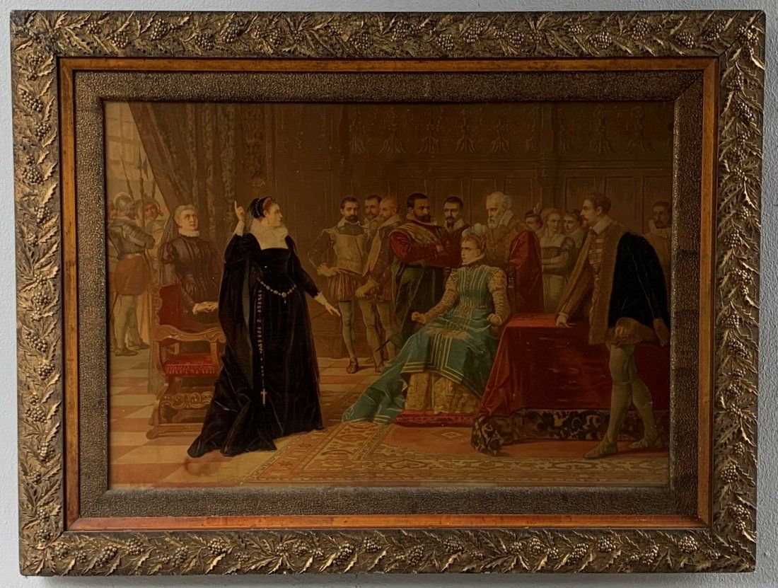 19th Century Hand Colored Lithograph in Period Frame