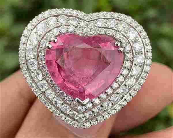 18k Gold - Tourmaline & Diamond Ring -Michael Christoff
