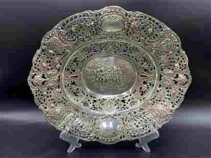 Fancy German Hanan Silver Repousse Bowl 13.3 Troy oz