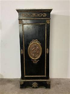 Ebonized French Cabinet, Helene Bertaux Bronze Plaque