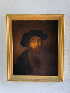 19th Century Rembrandt Style Painting - C. M. Powell