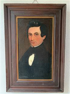 Early American Oil on Canvas Portrait W. M. Pryor?