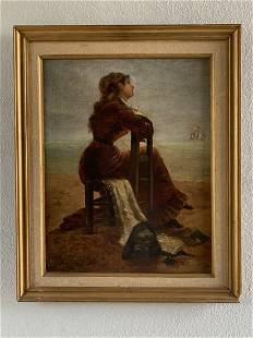 Alfred Emile Leopold Stevens Oil Painting of Woman
