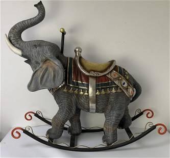 Whimsical Jewelled Rocking Elephant