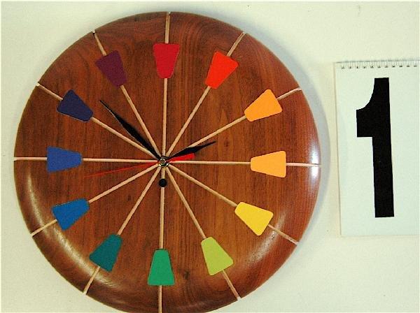1: DANISH MODERN WALL CLOCK