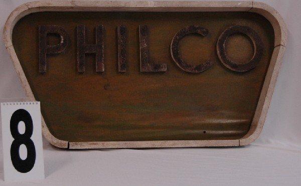 8: PHILCO TV OR RADIO SIGN