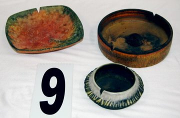 9: THREE FANTONI ASHTRAYS