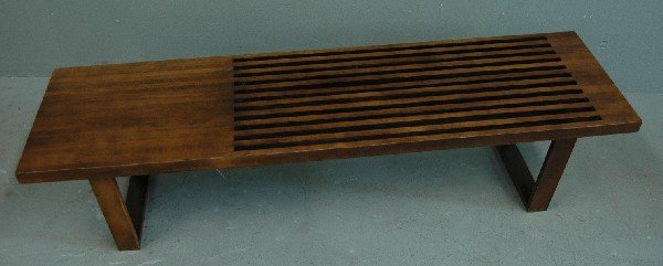 13. SLATTED WOODEN BENCH/TABLE