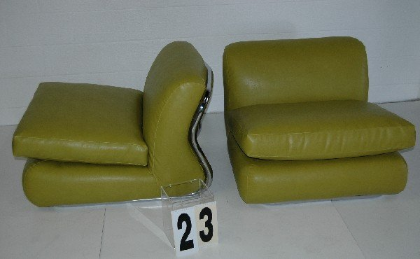 23: LIME GREEN LOUNGE CHAIRS