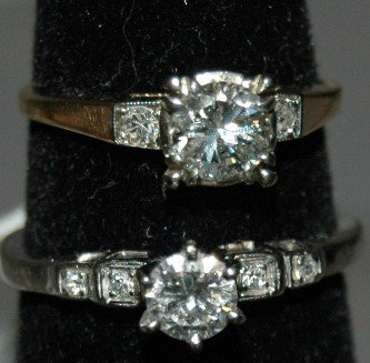 15A: 2 DIAMOND ENGAGMENT RINGS