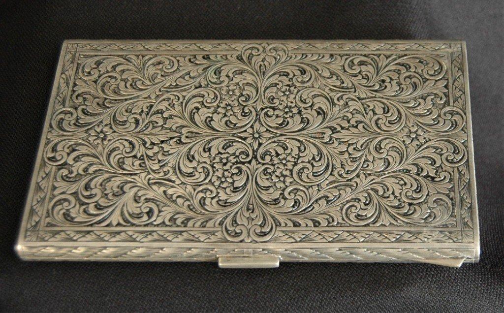 11: .800 Silver Cigarette Case