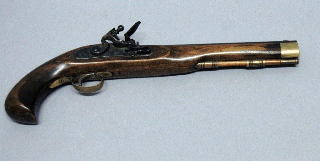15: Reproduction Flint Lock Black Powder Pistol