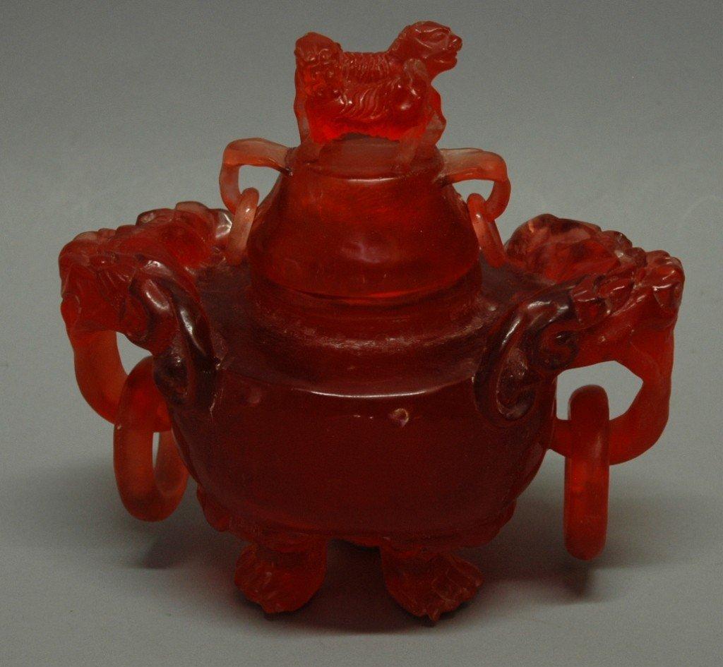 21: Amber Color Incense Burner