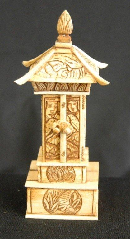 22: Carved Ivory Buddha Shrine