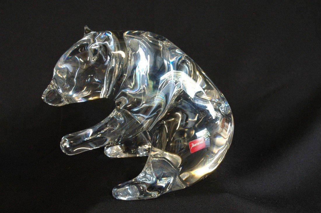 3: Baccarat Crystal Figural Bear