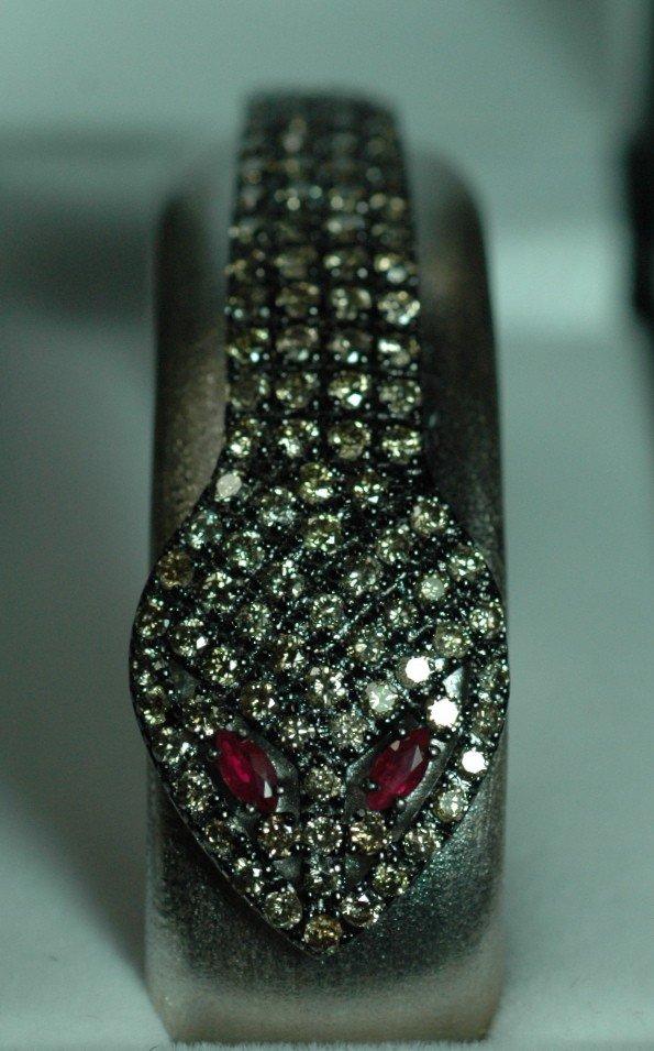 6: Champagne Diamond Snake Bracelet