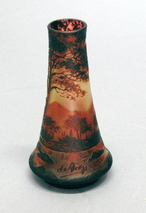 12: de Vez Cameo Art Glass Vase