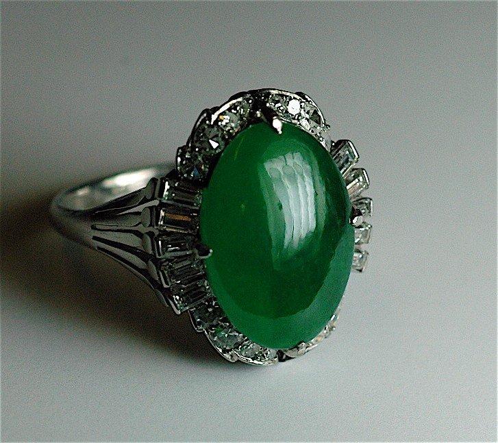 16: Jade and Diamond Ring
