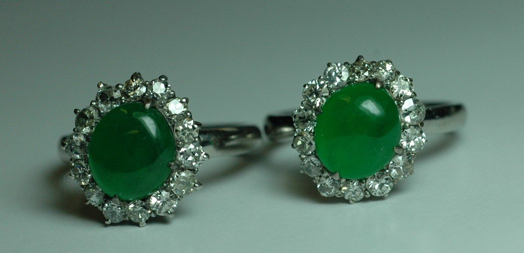 17: Pair of Jade Rings/Earrings