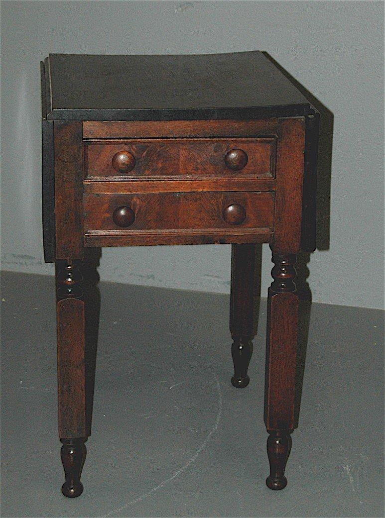 24: Walnut 1870 2-drawer Work Table