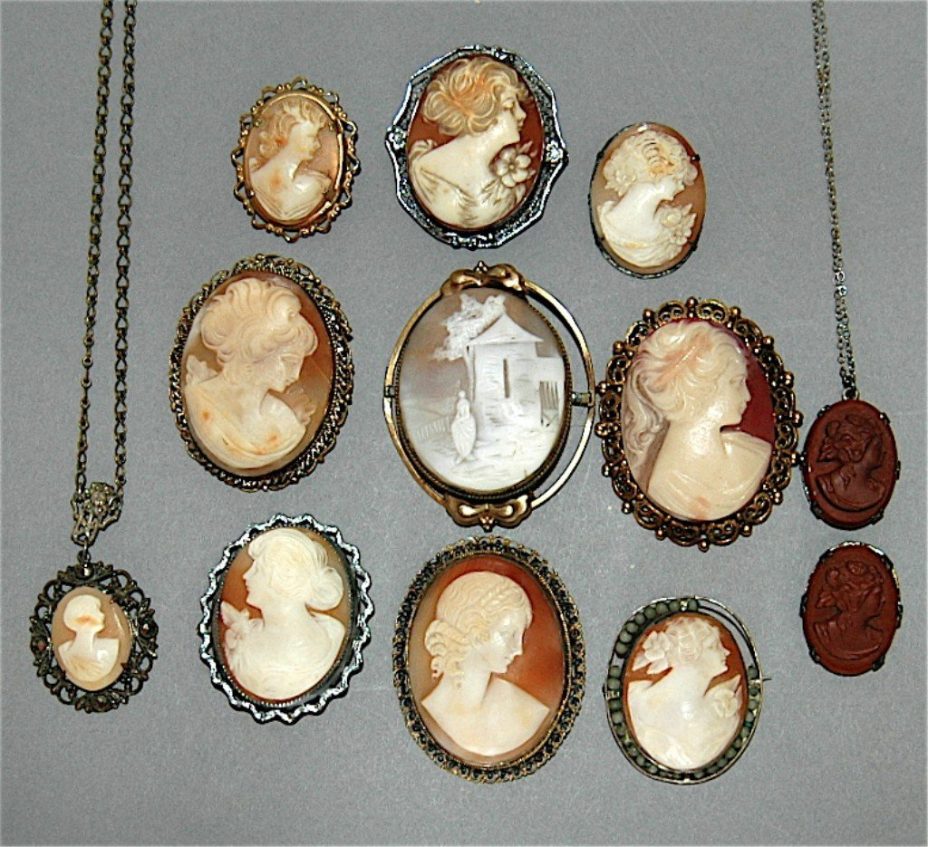 6: Group of 12 Victorian Carved Cameos