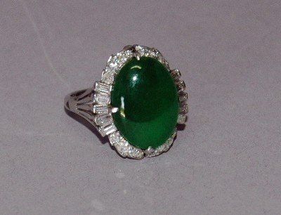 7: Jade and Diamond Ring