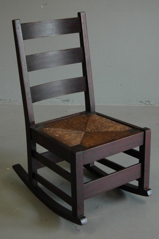 18: Gustav Stickley Sewing Rocker