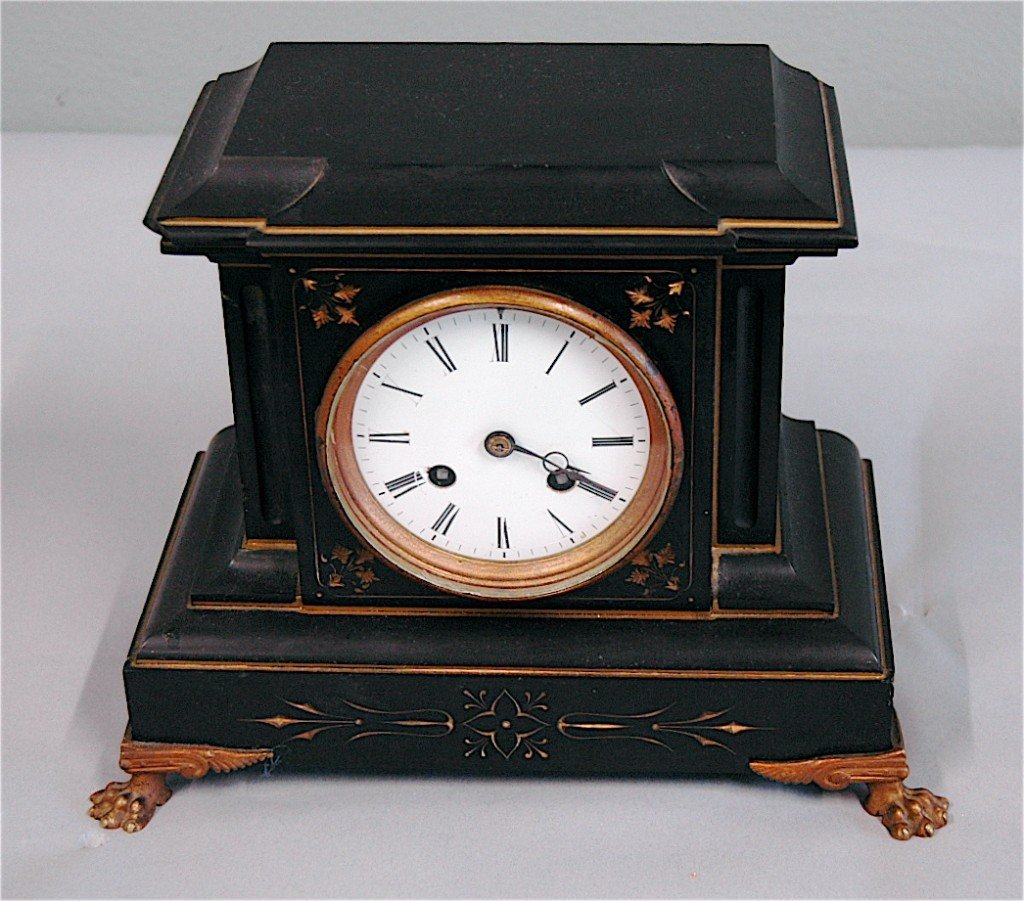 21: Black Marble French Mantle Clock