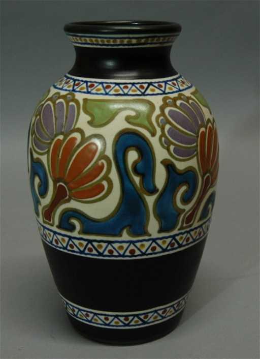 263 Gouda Holland Pottery Vase