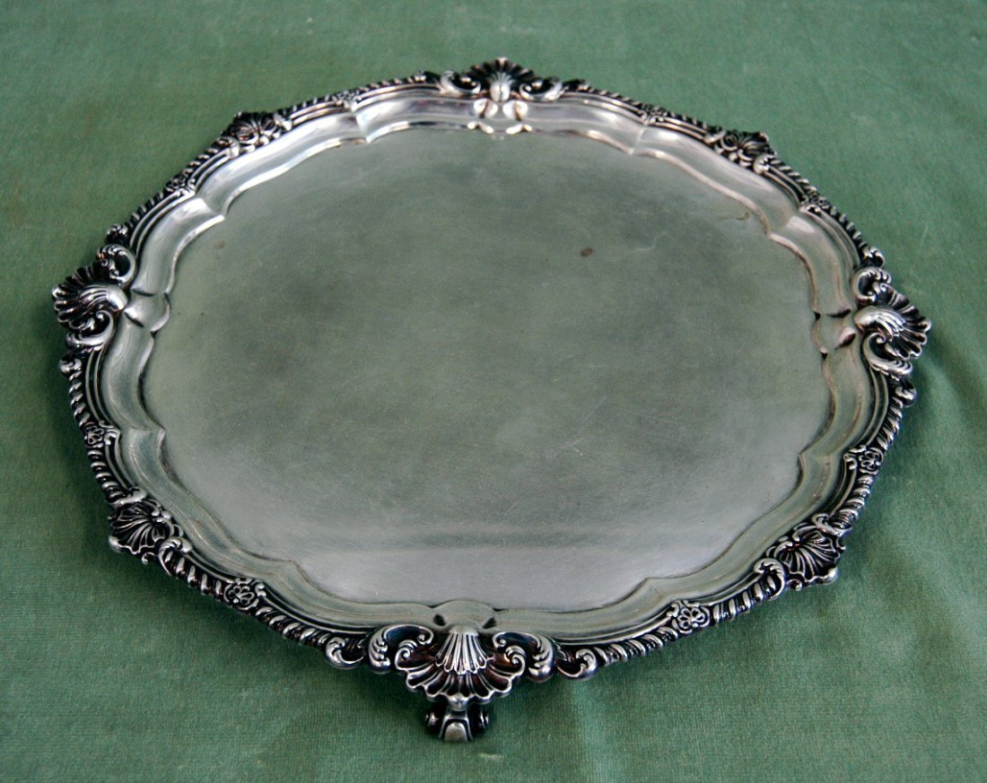 1: English Sterling Silver Salver