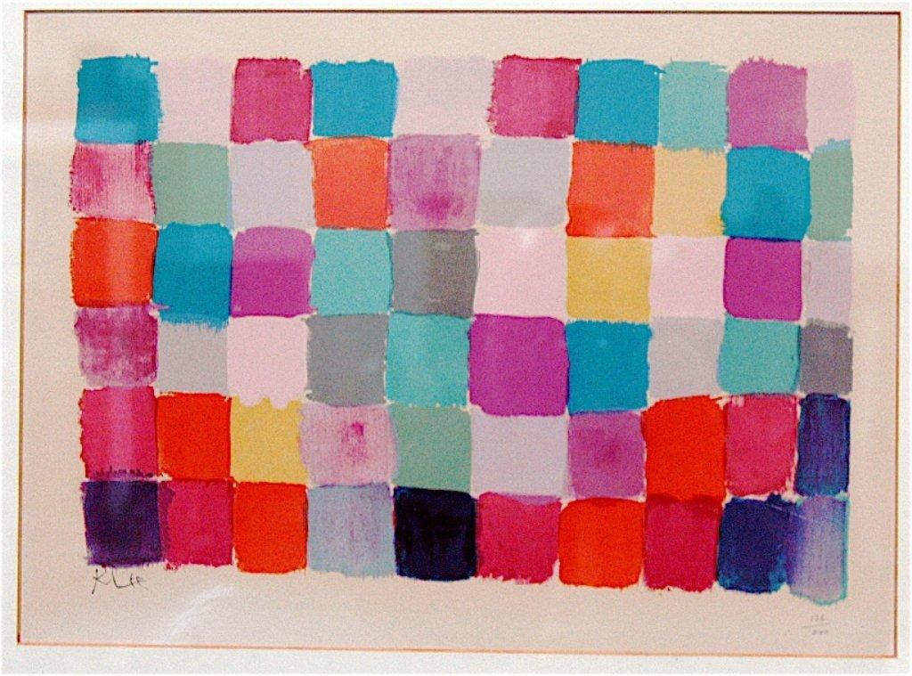 4: Paul Klee, Color Lithograph