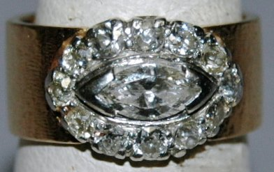 15: Lady's Diamond and 14K Gold Ring