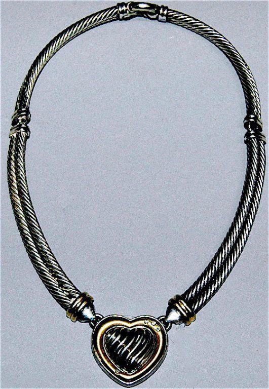 38: David Yurman Sterling & 18K Necklace