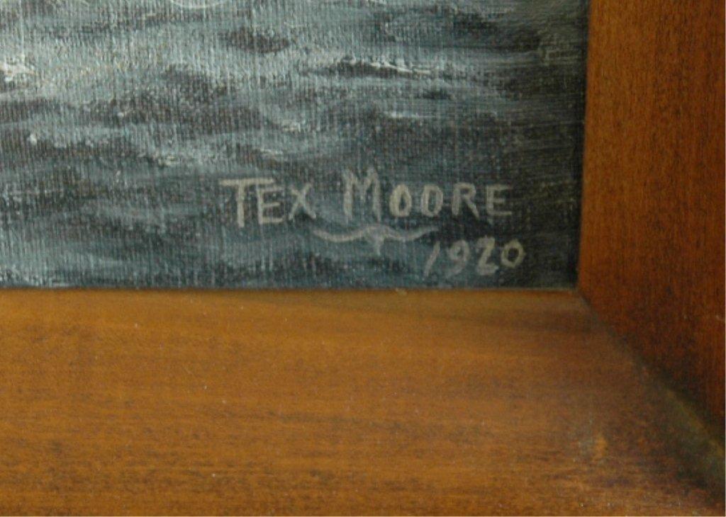 46: Tex Moore, Oil on Board - 2
