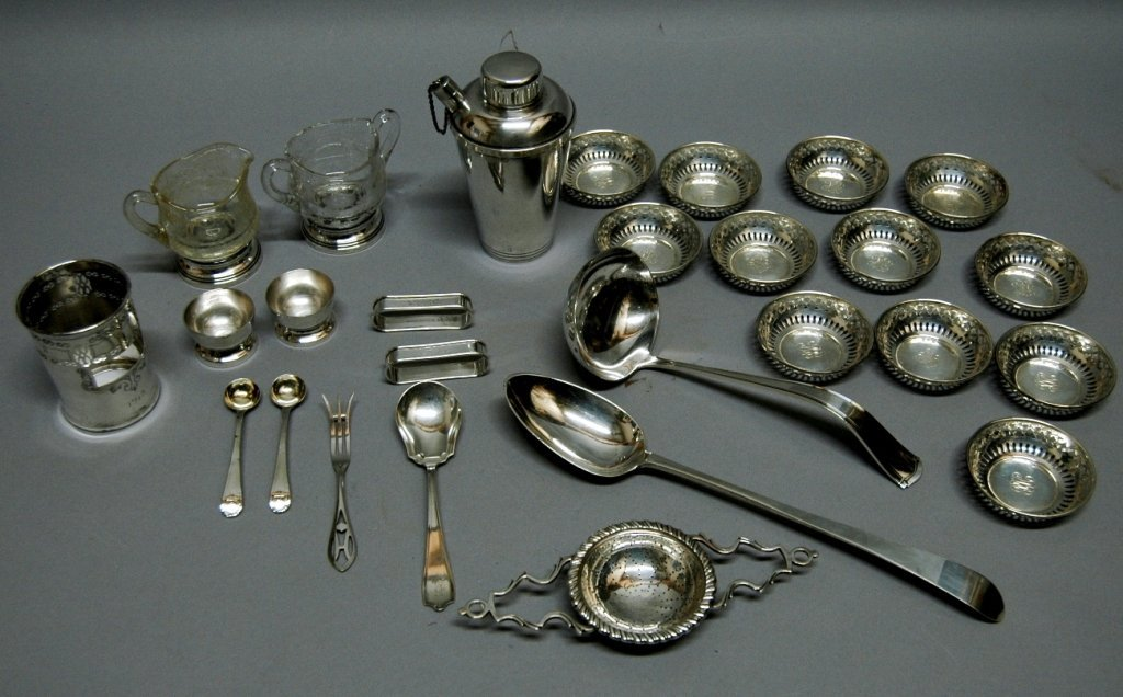 57: Sterling Silver Group; 27 Pieces