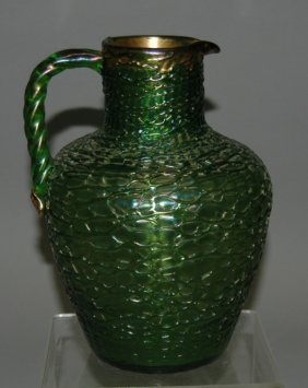 Loetz Art Glass Pitcher