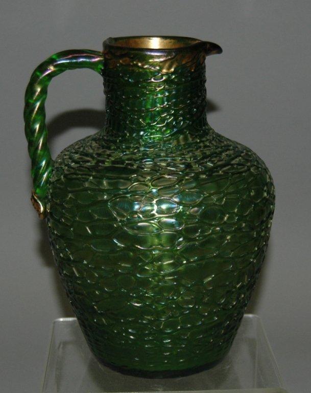 58: Loetz Art Glass Pitcher
