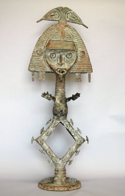 66: Bakota Bronze Sculpture of Shaman