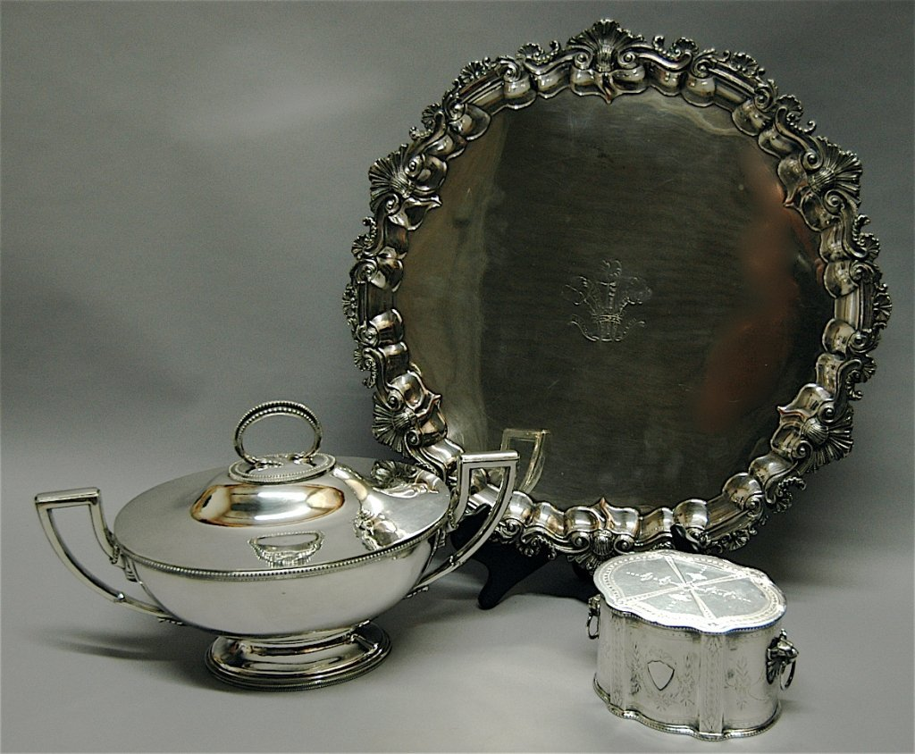 78: 3 Piece English Silver Plate Group