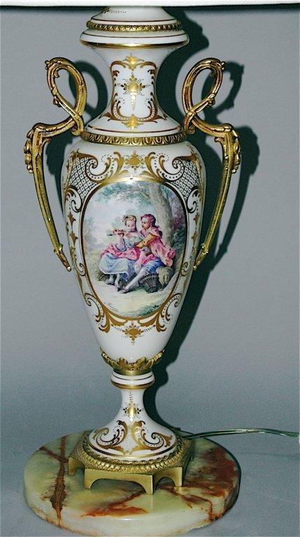 79: Sevres Porcelain Lamp