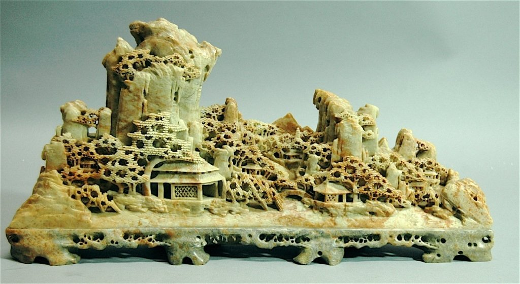 82: Soapstone Carving of Village