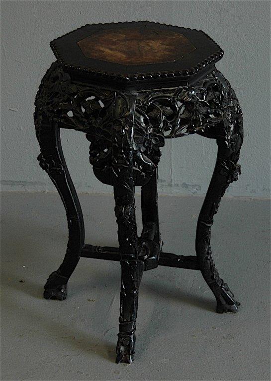 87: Chinese Teak Tabouret Table
