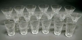 """Waterford Stems """"Glenmore"""" 18 Pieces"""