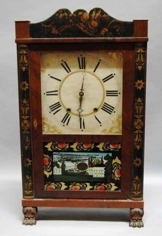 131: Riley Whiting Shelf Clock c 1815-20